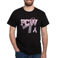 FCW initials, Pink Ribbon, T-Shirt