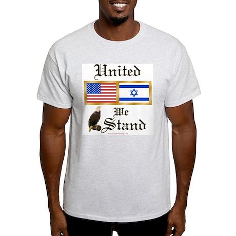 US & Israel United Ash Grey T-Shirt