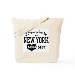 Somebody in New York Loves Me Tote Bag