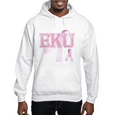 EKU initials, Pink Ribbon, Hoodie