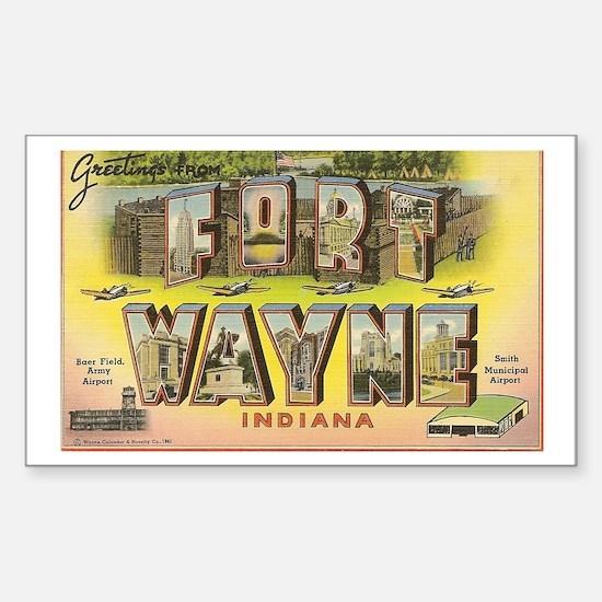 Fort Wayne Indiana Rectangle Decal