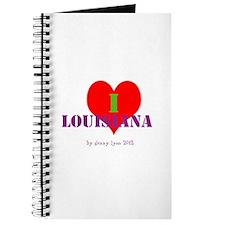 I Love Louisiana Heart Journal