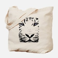 White Tiger for White Tote Bag