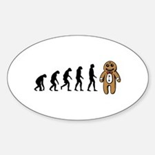 Humans evolve into gingerbread man Decal