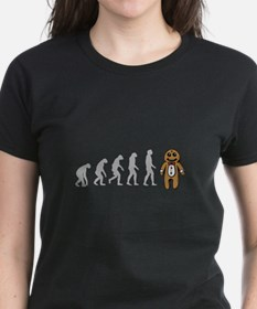 Humans evolve into gingerbread man Tee