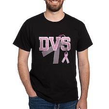 DVS initials, Pink Ribbon, T-Shirt