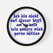 Nicht auf dieser Welt blue Wall Clock