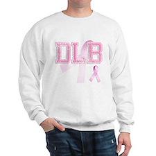 DLB initials, Pink Ribbon, Sweatshirt