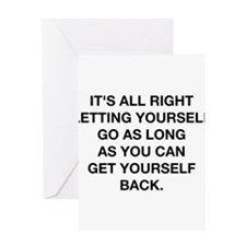Letting Yourself Go Greeting Card