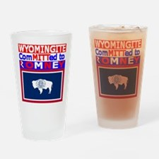 wyomingromneyflag.png Drinking Glass