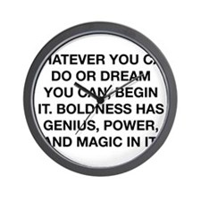 Whatever You Can Dream Wall Clock