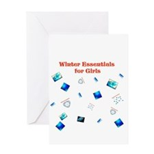 Winter Essentials for Girls Greeting Card