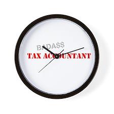 Badass Tax Accountant Wall Clock