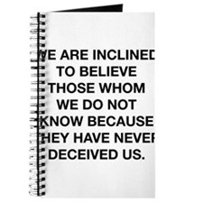 Inclined To Believe Journal