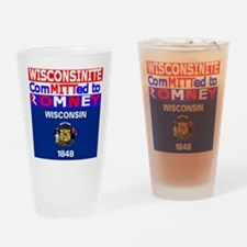 wisconsinromneyflag.png Drinking Glass