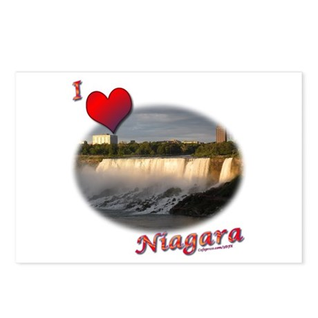 I Love Niagara Postcards (Package of 8)