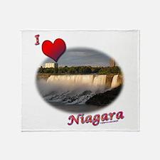 I Love Niagara Throw Blanket