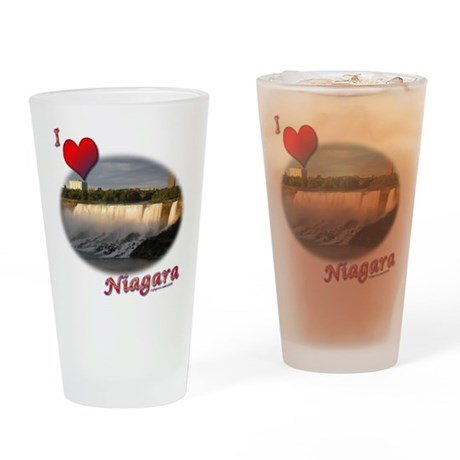 I Love Niagara Drinking Glass