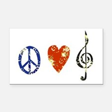 peace, love ,music D Rectangle Car Magnet