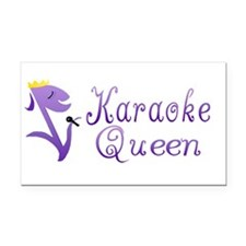 Karaoke Queen Rectangle Car Magnet