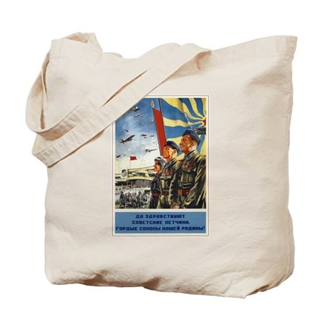 Pilots of The Soviet Union Tote Bag