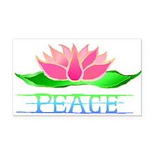 lotusblossompeacetransB.png Rectangle Car Magnet