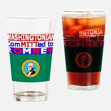 washingtonromneyflag.png Drinking Glass