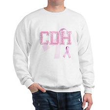 CDH initials, Pink Ribbon, Sweatshirt