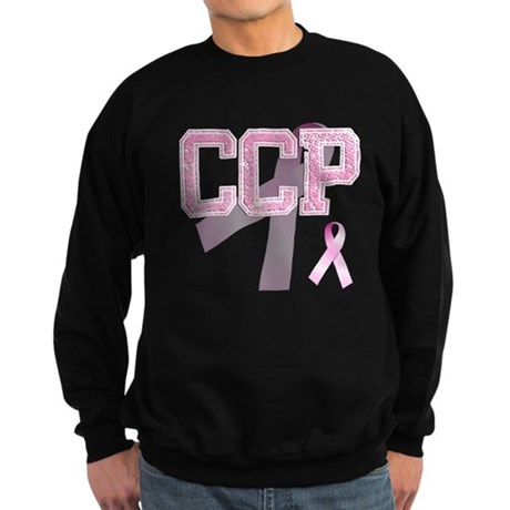 CCP initials, Pink Ribbon, Sweatshirt (dark)