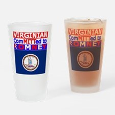 virginiaromneyflag.png Drinking Glass