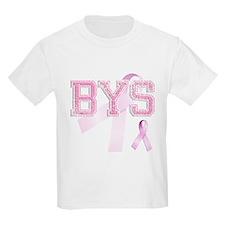 BYS initials, Pink Ribbon, T-Shirt