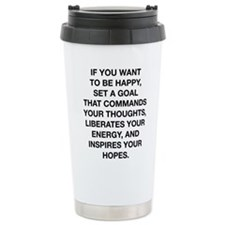 If You Want To Be Happy Travel Mug