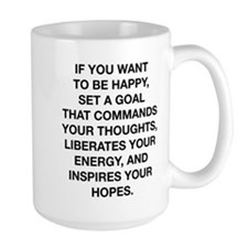 If You Want To Be Happy Mug