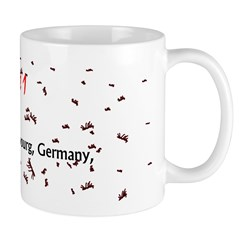 Mug: It rained ants at Strasbourg, Germany, today