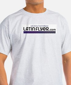 LatinFlyer white logo T-Shirt