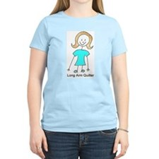 stick quilter w text lg T-Shirt