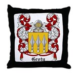 Groty Coat of Arms Throw Pillow