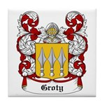 Groty Coat of Arms Tile Coaster
