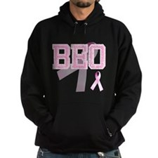 BEO initials, Pink Ribbon, Hoodie