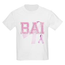 BAI initials, Pink Ribbon, T-Shirt