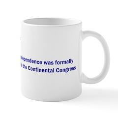 Mug: U.S. Declaration of Independence was formally
