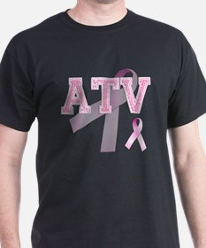 ATV initials, Pink Ribbon, T-Shirt