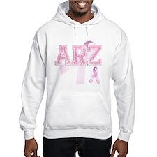 ARZ initials, Pink Ribbon, Jumper Hoody