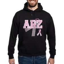 ARZ initials, Pink Ribbon, Hoody
