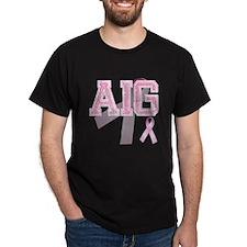 AIG initials, Pink Ribbon, T-Shirt