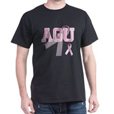 AGU initials, Pink Ribbon, T-Shirt