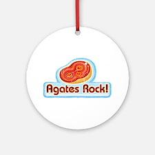Agates Rock! Ornament (Round)