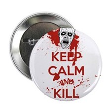 """Keep Calm and Kill Zombies 2.25"""" Button (10 pack)"""