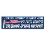THEY DONT DESERVE THE AMERICAN DREAM Sticker (Bump