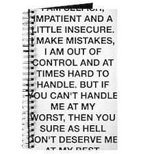 I Am Selfish Journal